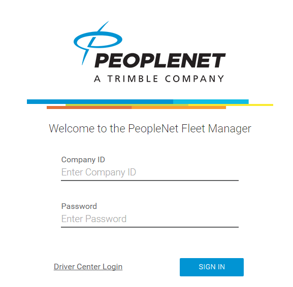 PeopleNet Fleet Manager Login