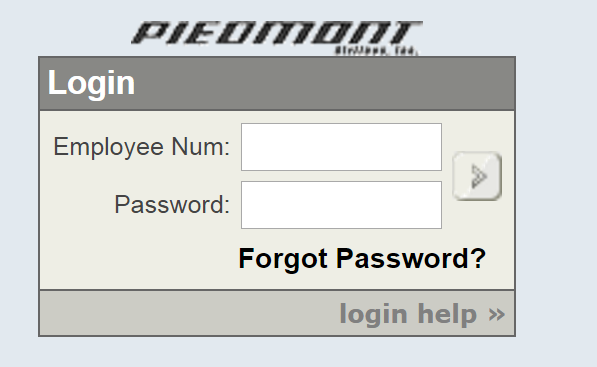 Piedmont Airlines Employee Portal Bill Payment