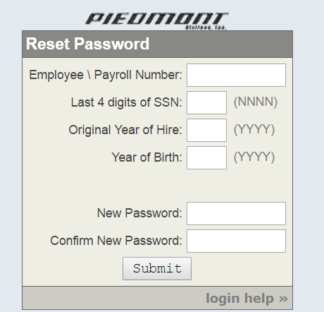 Piedmont Airlines Employee Portal Forgot Password 2