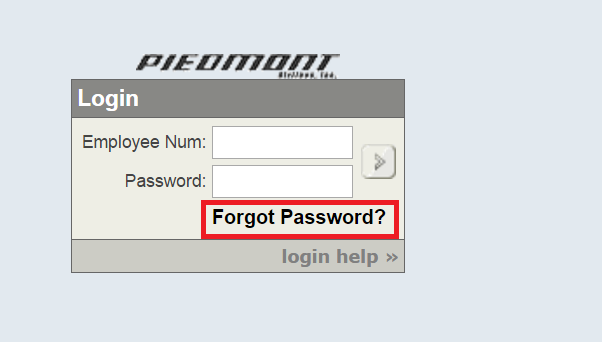 Piedmont Airlines Employee Portal Forgot Password