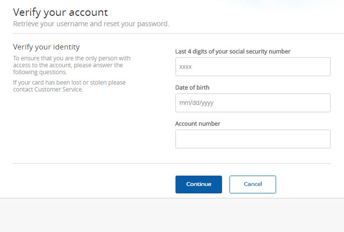 Priceline Credit Card Forgot Password 2