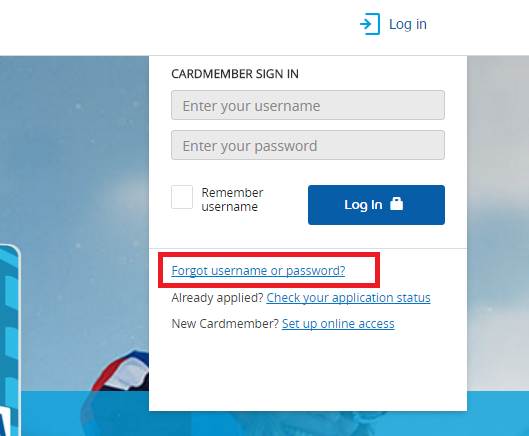 Priceline Credit Card Forgot Password