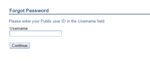 Publix Passport Forgot Password