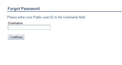 Publix Passport Forgot Password