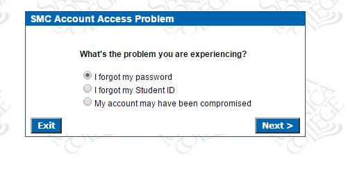 SMC Corsair Connect Forgot Password