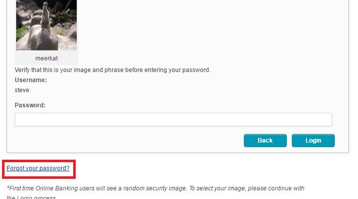 SSCU Online Banking Forgot Password 2