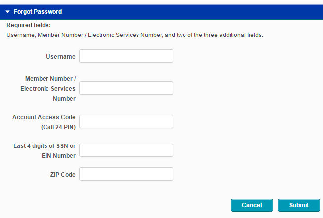 SSCU Online Banking Forgot Password 3