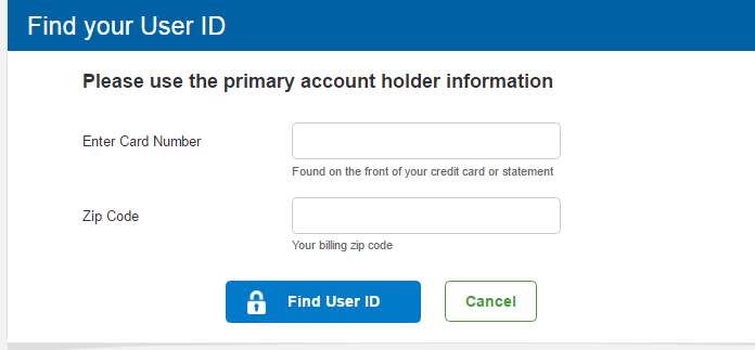 Sam's Club Credit Card Forgot Password 4