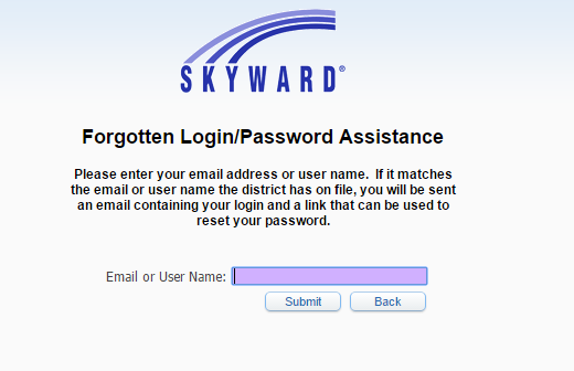 Skyward FBSID Forgot Password 2