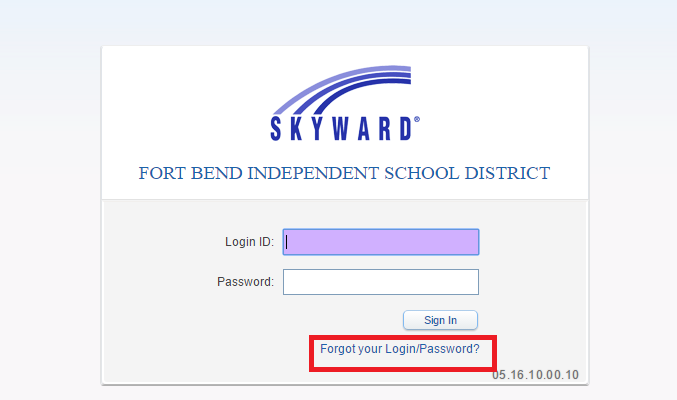 Skyward FBSID Forgot Password
