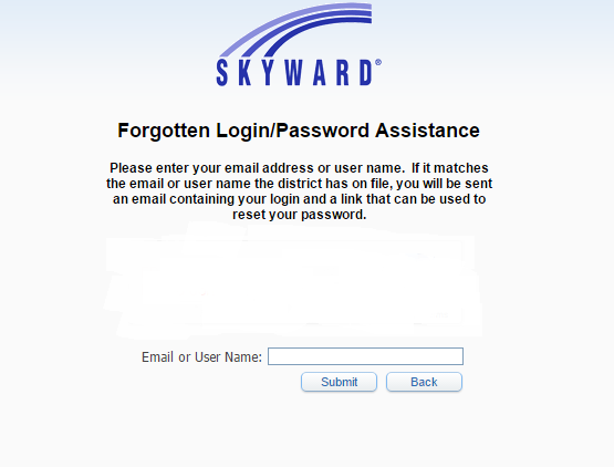 Skyward Lubbock-Cooper ISD Forgot Password