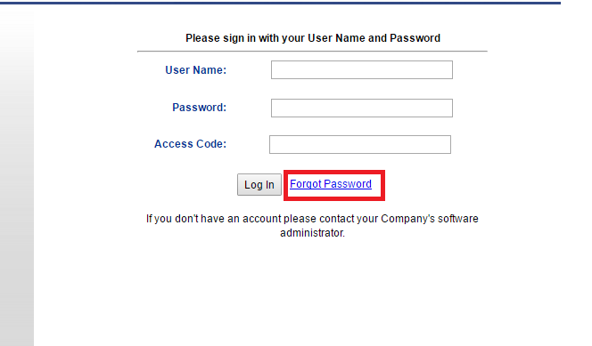Therapute Software Forgot Password