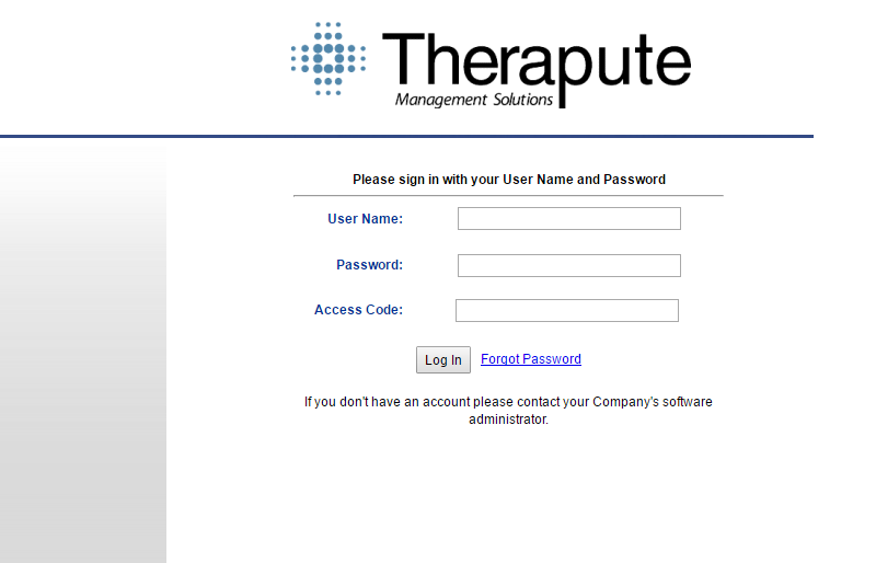 Therapute Software Login