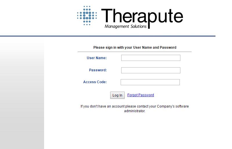 Therapute Software Login