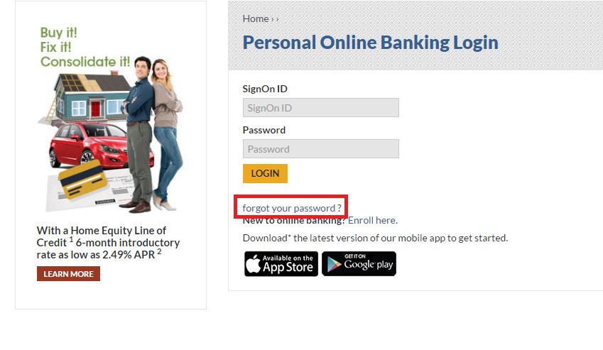 Tri Counties Bank Forgot Password