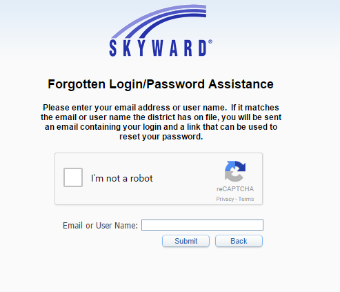 USD 443 Skyward Forgot Password
