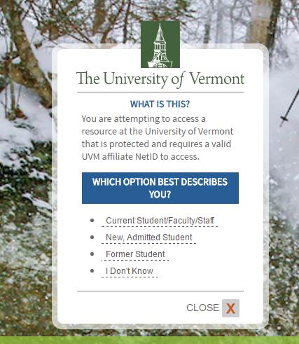 UVM University of Vermont Forgot Password 2