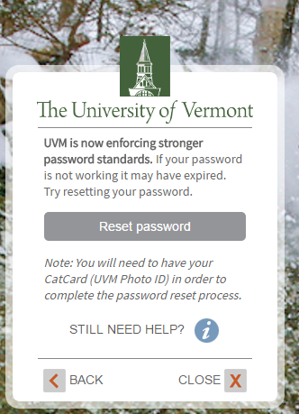 UVM University of Vermont Forgot Password 3