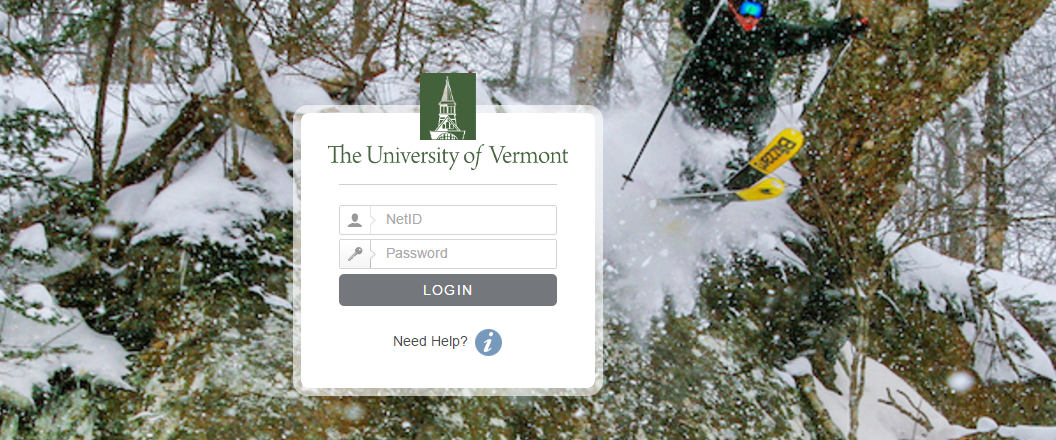 UVM University of Vermont Login