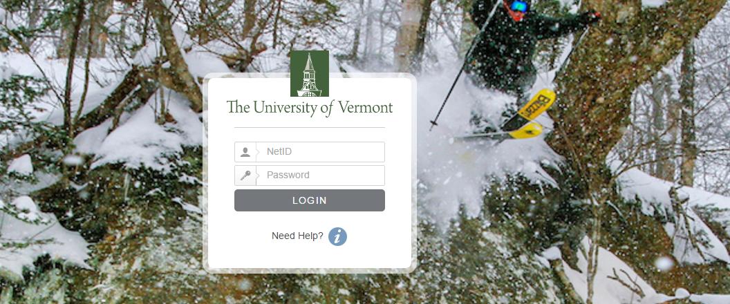 UVM University of Vermont Login