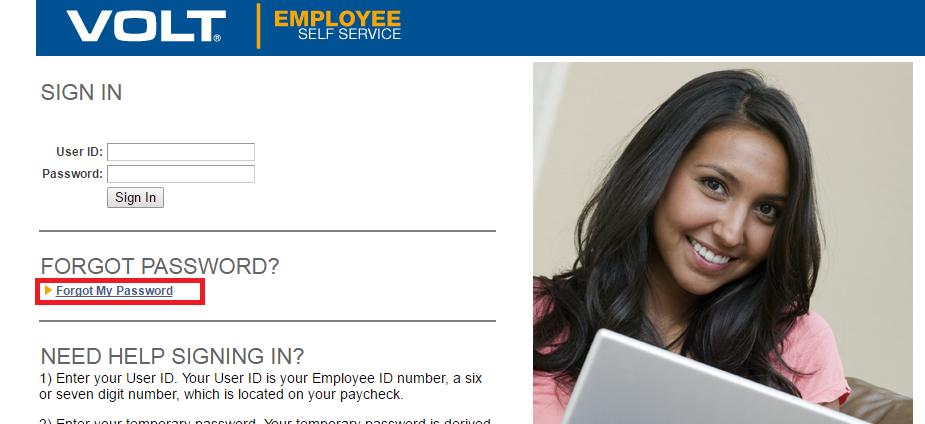 ESS (Employee Self Service) Forgot Password