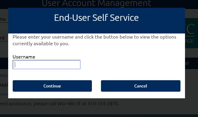 WOR-WIC Blackboard Forgot Password