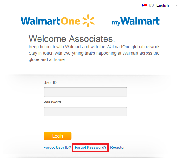 WalmartOne Associate Portal Forgot Password 3