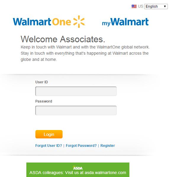 WalmartOne Associate Portal Login