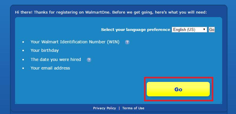 WalmartOne Associate Portal Sign Up