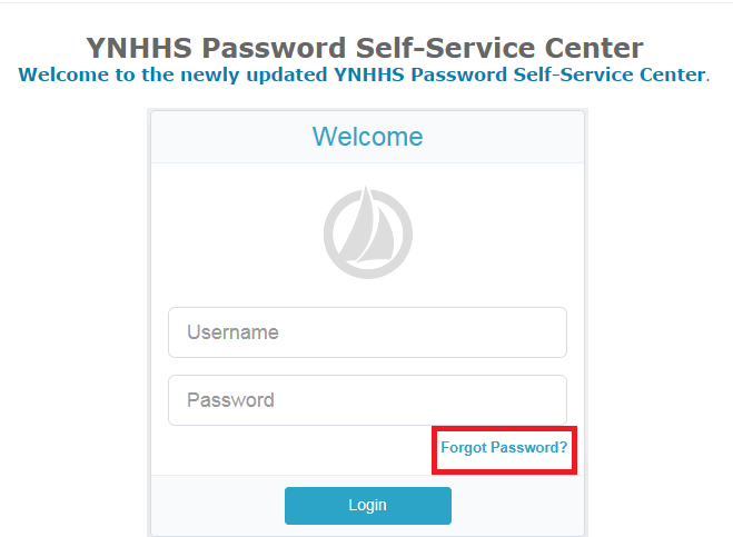 Yale New Haven Hospital Employee Self Service Portal Forgot Password