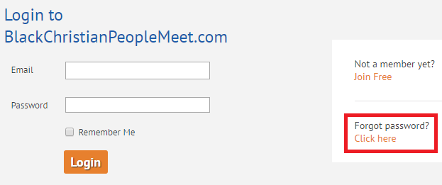 Black Christian People Meet Forgot Password