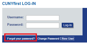 CUNYfirst Forgot Password
