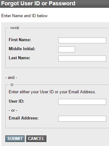 NRA Credit Card Forgot Password 2