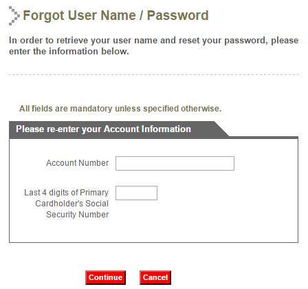 Yamaha Credit Card Forgot Password