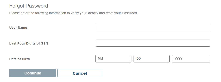 Midas Credit Card Forgot Password 2