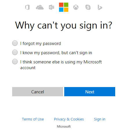 Bing Ads Forgot Password 2