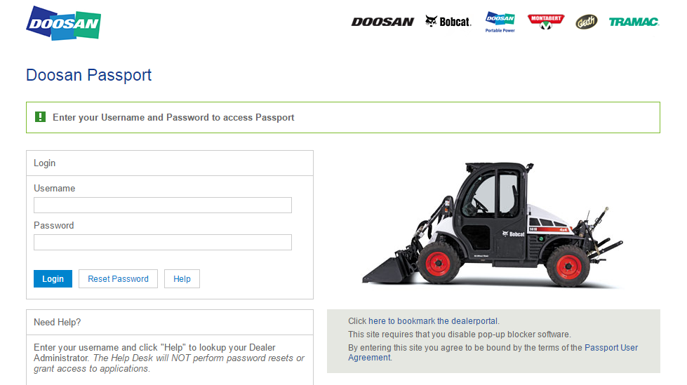 Doosan Passport Login