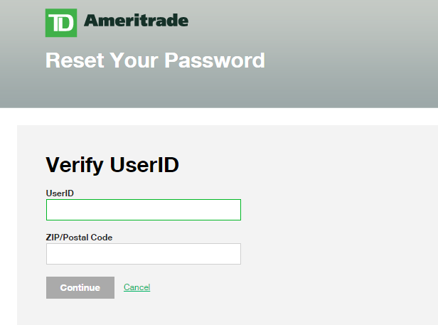 TD-Ameritrade-Forgot Password