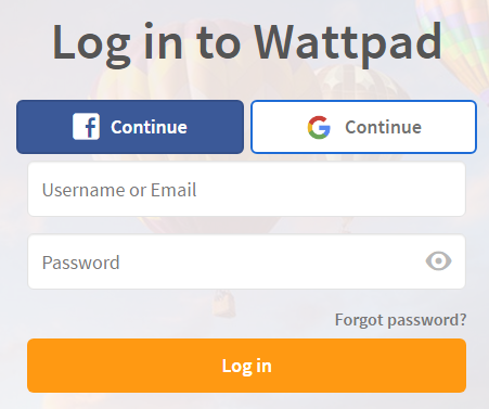 Wattpad Sign In