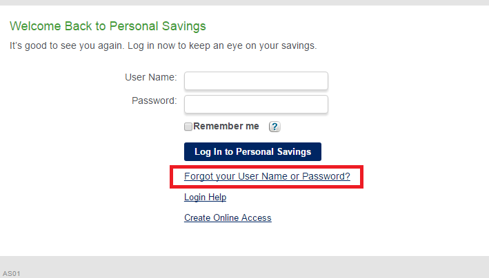 American Express Savings Forgot Password