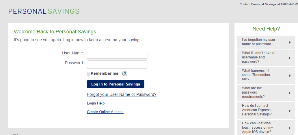 American Express Savings Login