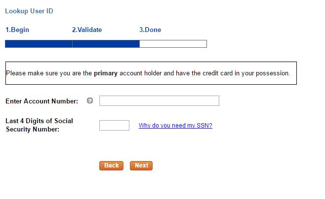 Belk Credit Card Forgot ID