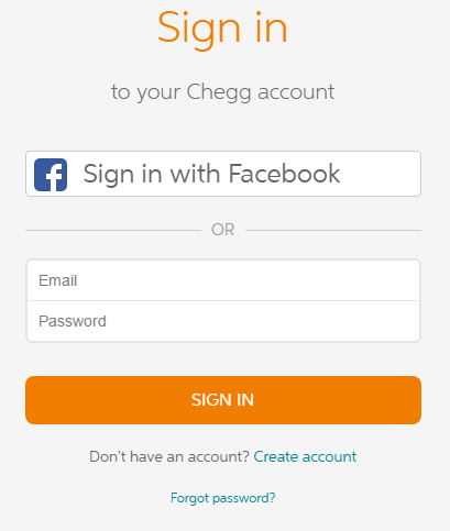 Chegg Account Sign In