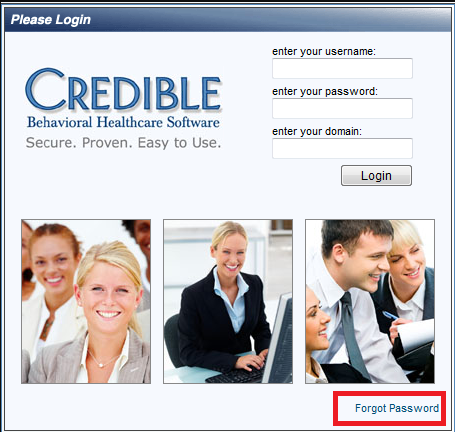 Credible BH Forgot Password