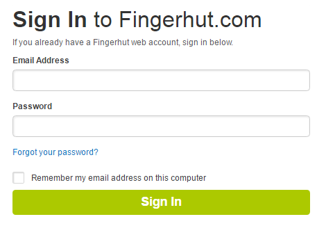 Fingerhut Account Sign In
