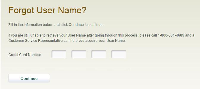 First Premier Credit Card Forgot Username