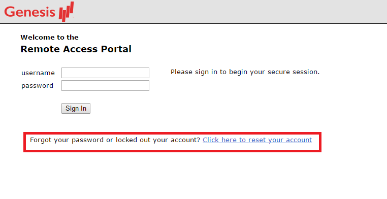 Genesis Healthcare Employee Portal Forgot Password