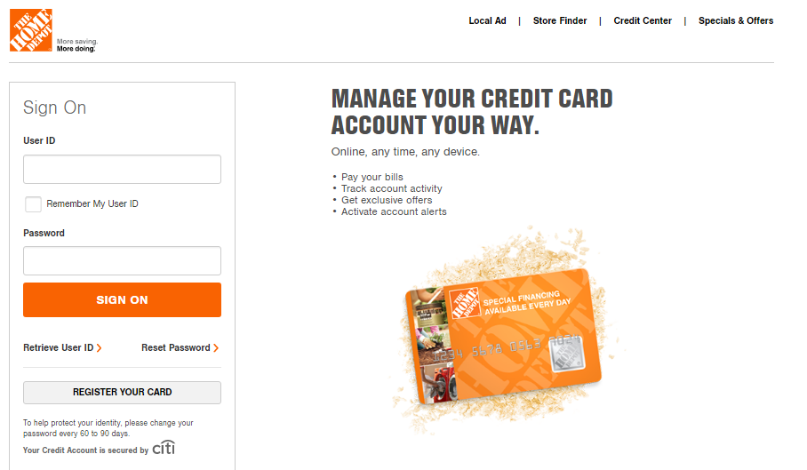 Home Depot Credit Card Activate