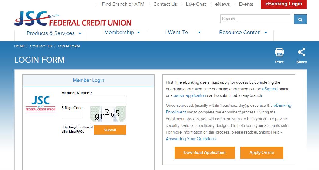 JSC Federal Credit Union Account Login