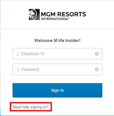 M Life Insider Forgot Password